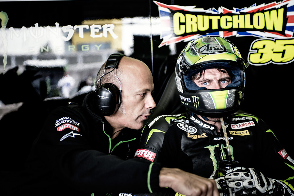 Cal Crutchlow and Mechanic, Sachsenring Moto GP