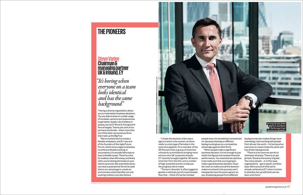 Steve Varley for People Management Magazine