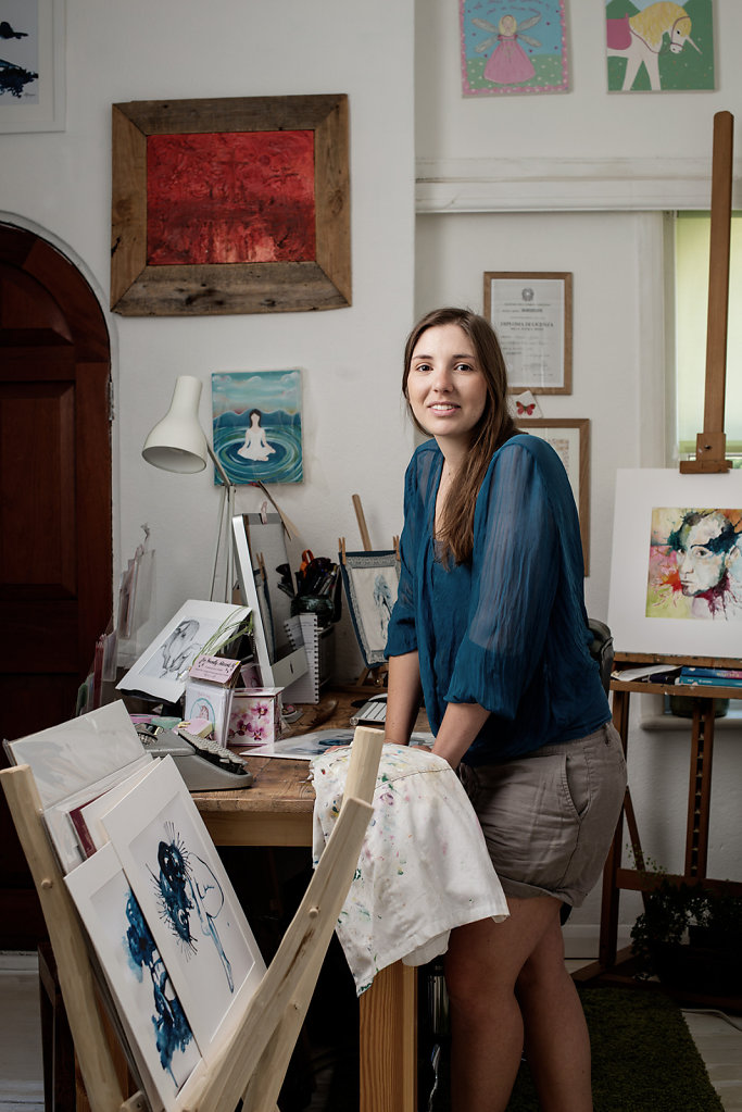Giulia Mauri photographed in her studio
