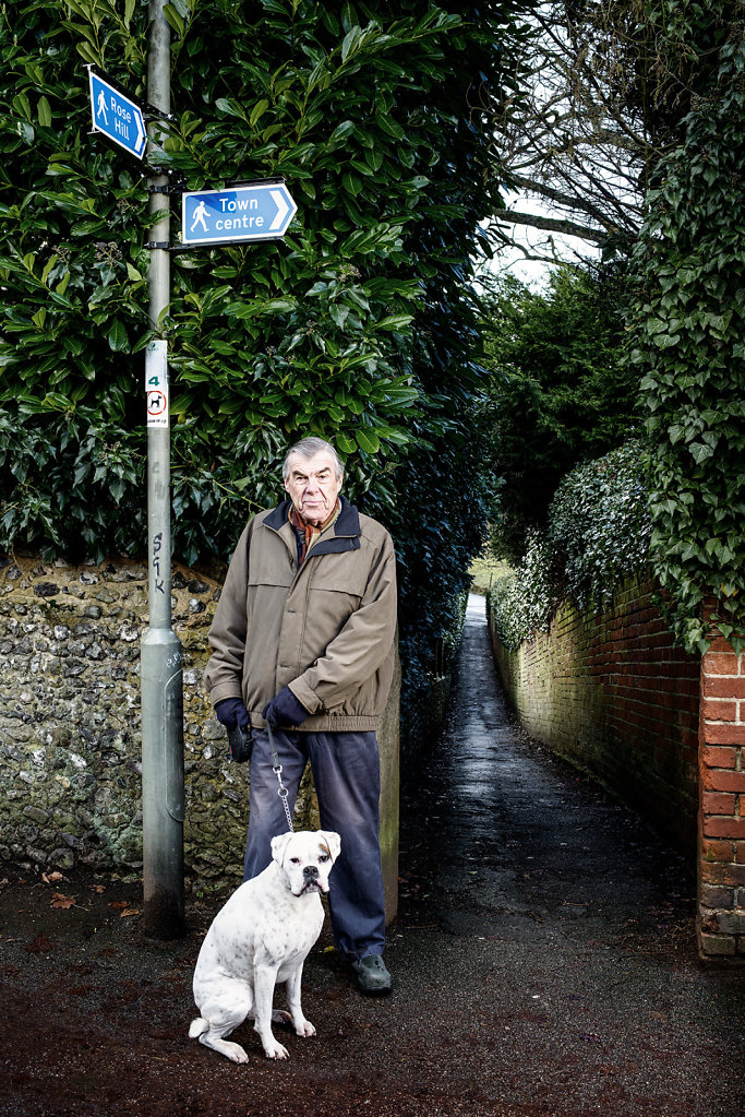 Michael Whitehead (and Bonnie) photographed at Chequers Place