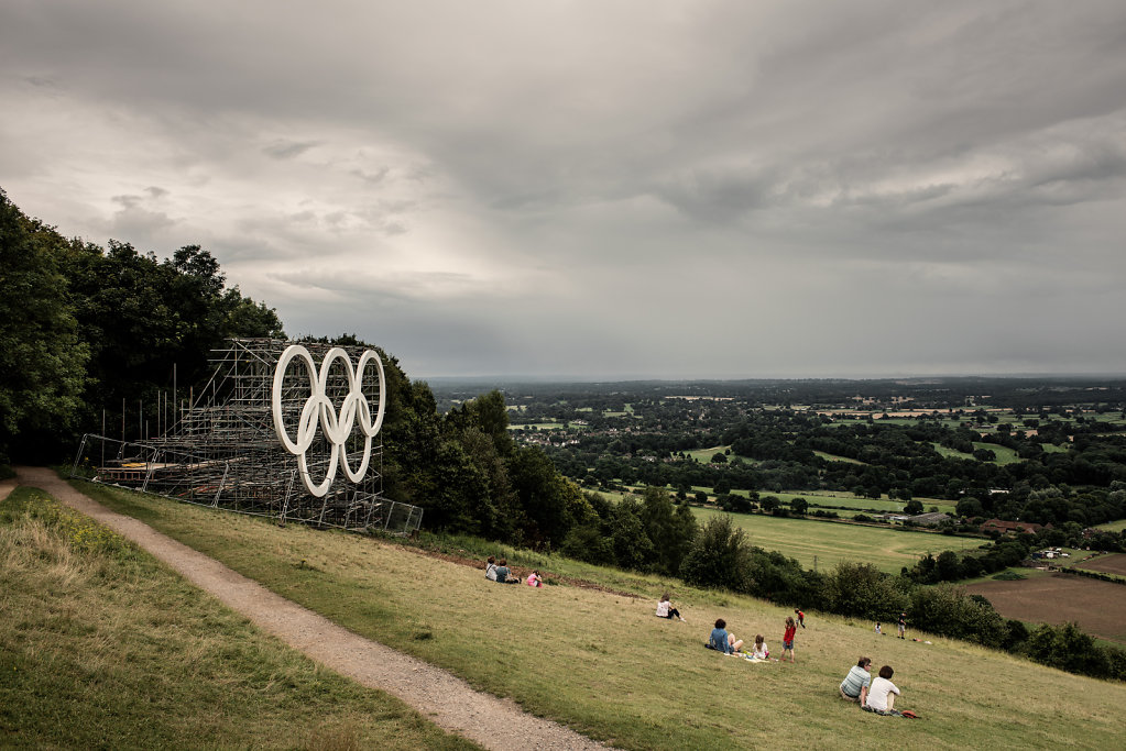 Olympic Rings, Box Hill, July 2012