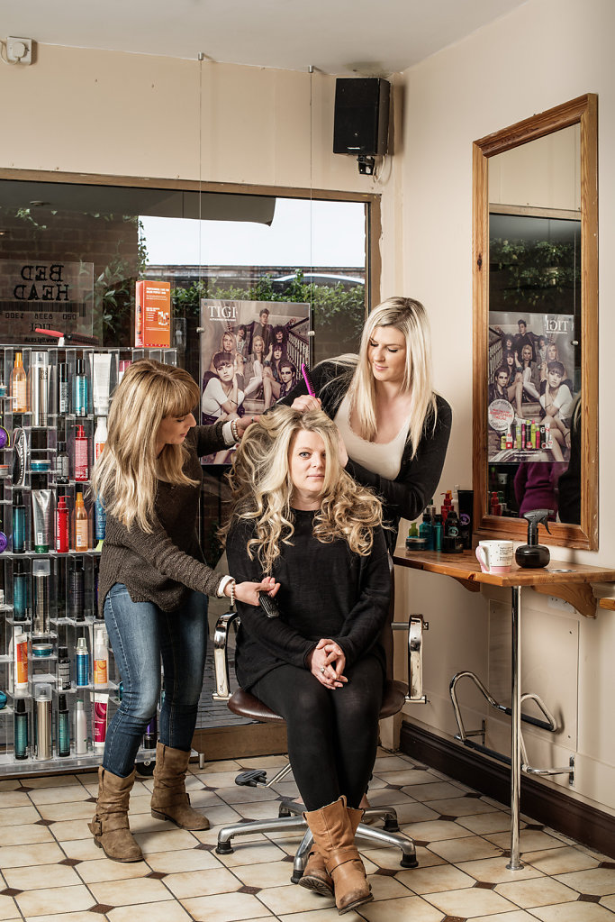 Polly, Ann & Abi photographed at Santrillos Hair Design