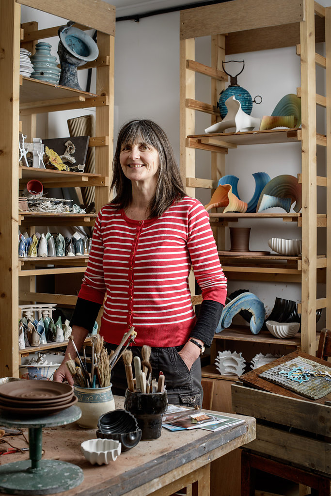Stephanie Wright photographed in her studio