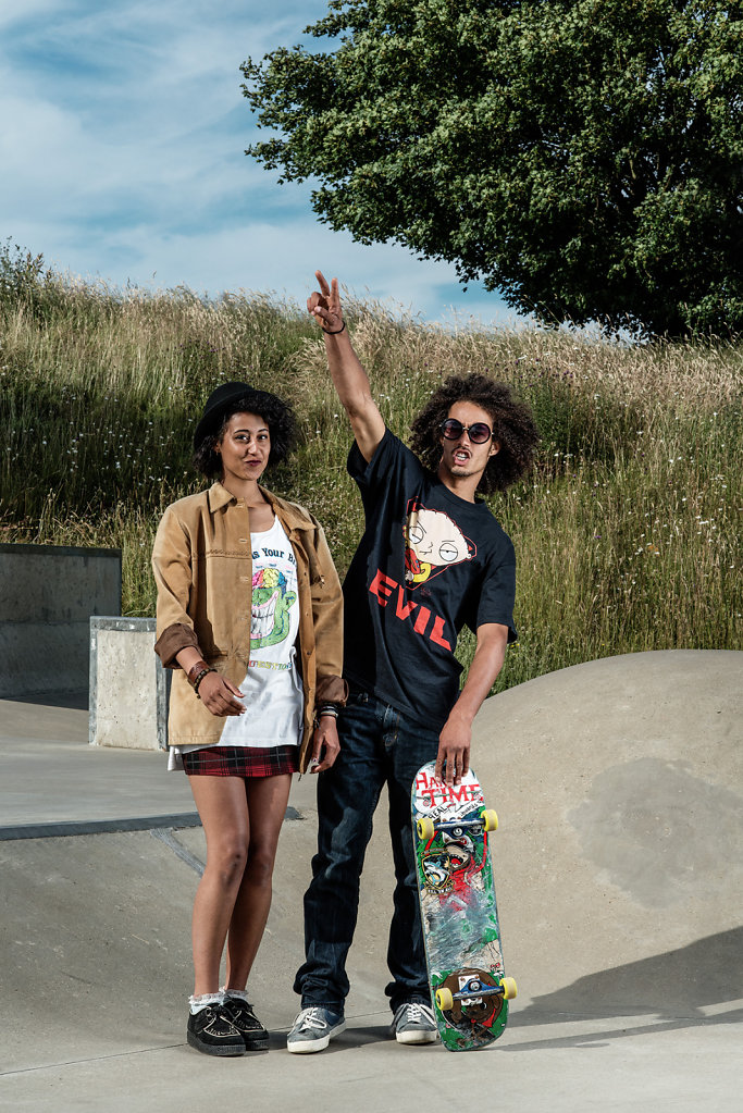 Yola & Oliver Thorp at the Meadowbank Skatepark