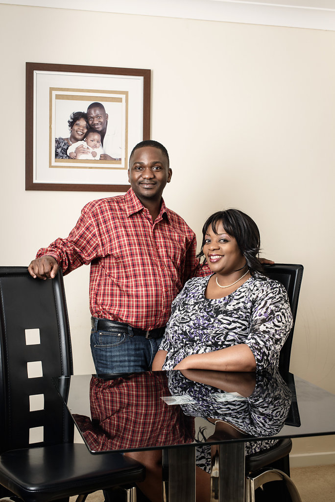 Zenith & Annie Mbanje photographed in their home