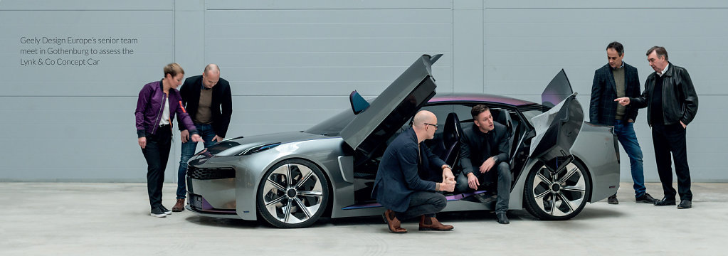 Members of the Geely Europe design team