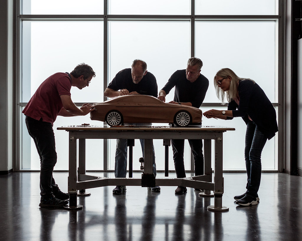 Clay modelling team, Sindelfingen, Germany, photographed for Global Design Travelogue, a book about Mercedes design