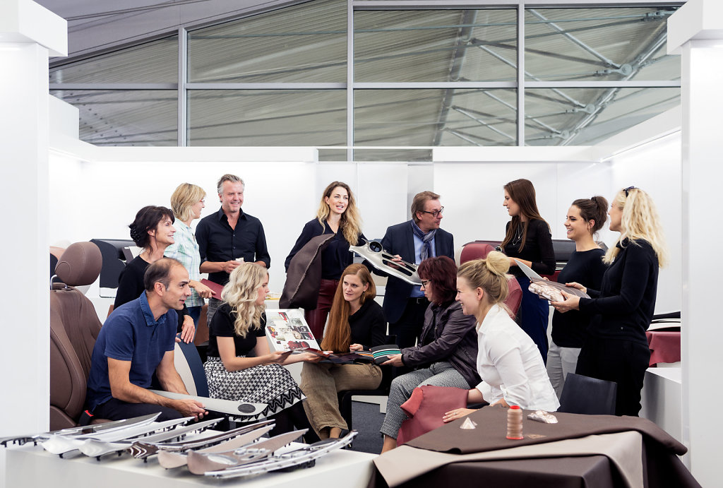 Interiors design team, Sindelfingen, Germany, photographed for Global Design Travelogue, a book about Mercedes design