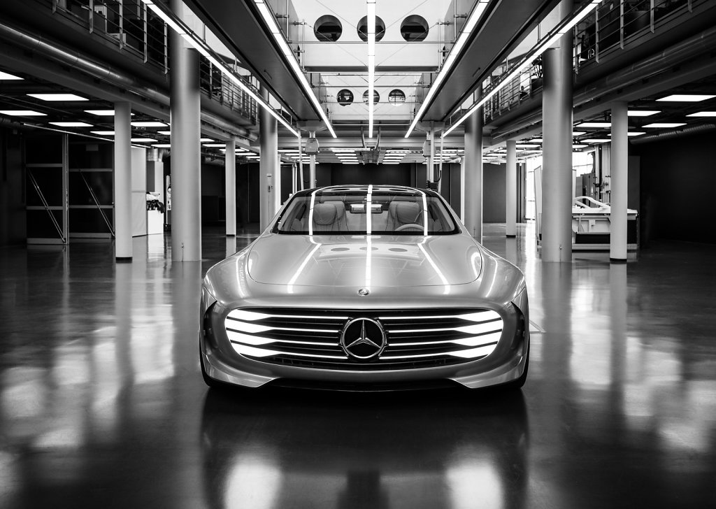 Concept, Mercedes Benz, Sindelfiingen design studios, photographed for Global Design Travelogue, a book about Mercedes design
